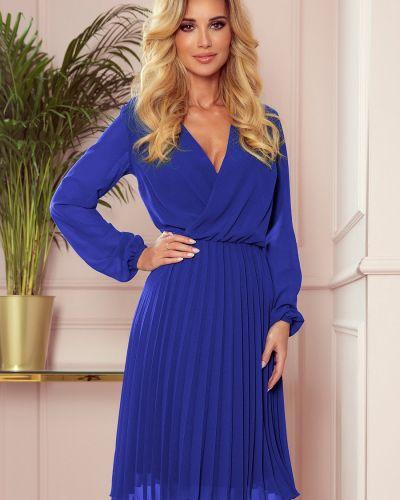 Niebieska sukienka z szyfonu oversize Numoco