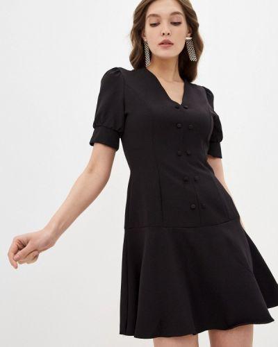 Прямое черное платье А-силуэта Trendyol