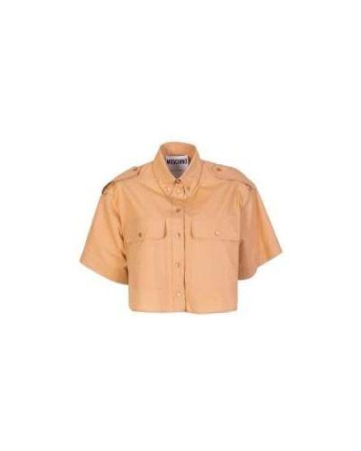 Бежевая блузка сафари Moschino