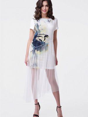 Прямое платье - белое Ricamare