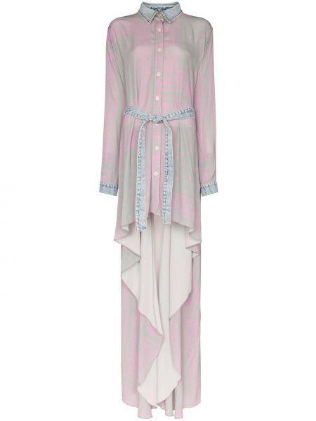 Джинсовое платье розовое серое Natasha Zinko