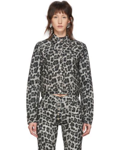Черная длинная куртка с манжетами с подкладкой с воротником Miaou