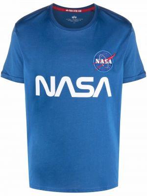 Синяя хлопковая футболка Alpha Industries