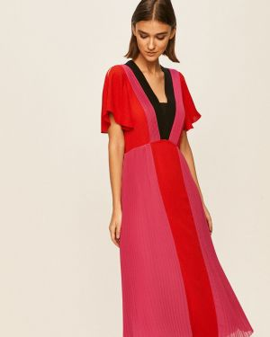 Sukienka midi koktajlowa z suwakiem Karl Lagerfeld