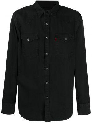 Черная джинсовая рубашка с карманами на кнопках с воротником Levi's®