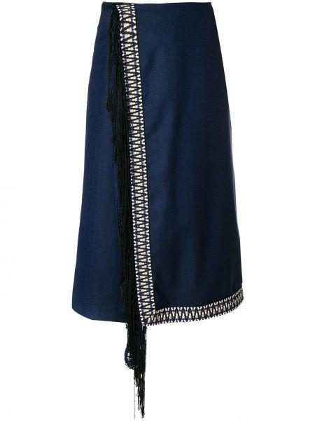 Укороченные брюки - синие Miahatami