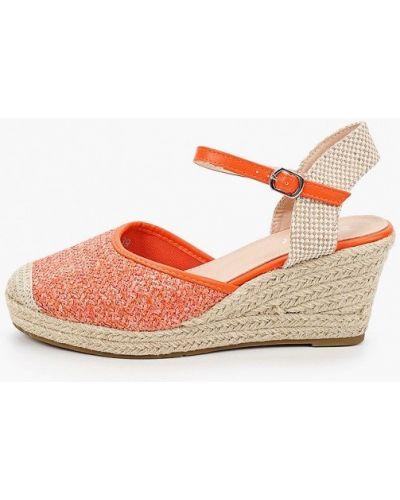 Текстильные оранжевые туфли Exquily
