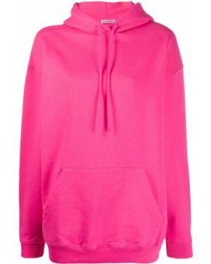 Bluza z kapturem z kapturem różowy Balenciaga
