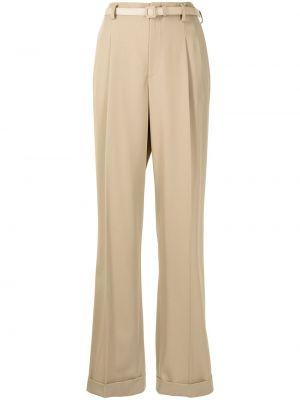 Brązowe spodnie wełniane Ralph Lauren Collection
