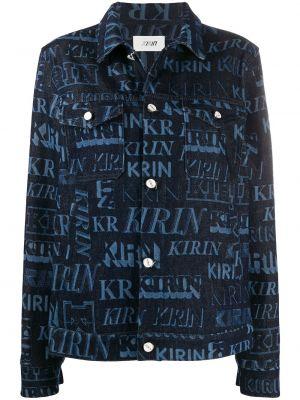 Niebieskie jeansy bawełniane z długimi rękawami Kirin