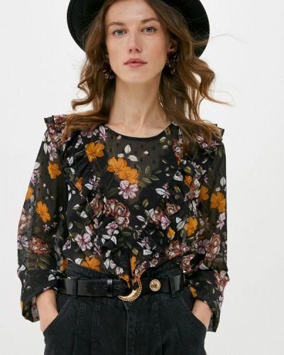 Черная блузка с оборками B.young