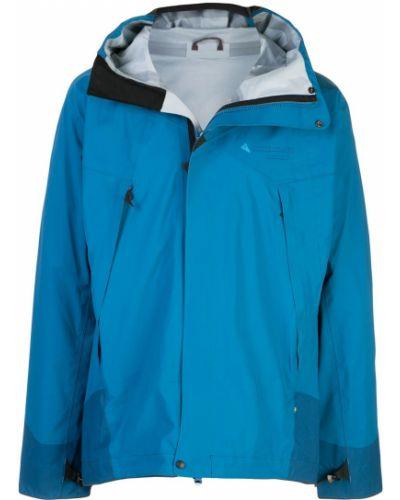 Синяя куртка с капюшоном свободного кроя Klättermusen