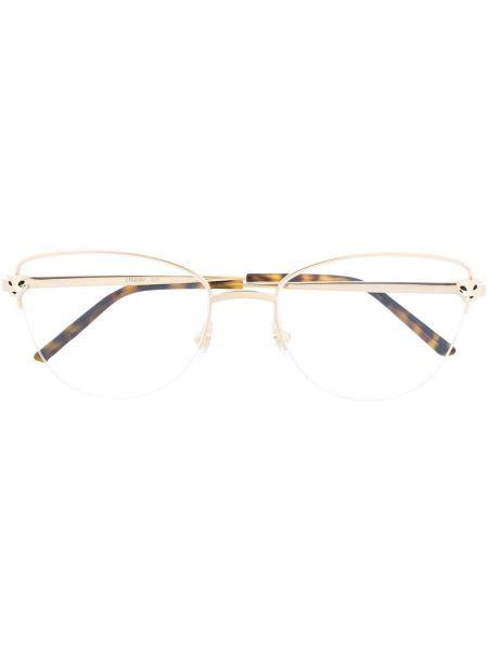 Oprawka do okularów metal złoto Cartier