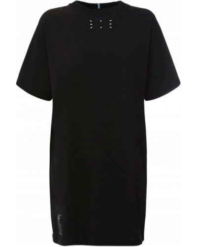 Трикотажное платье - черное Mcq