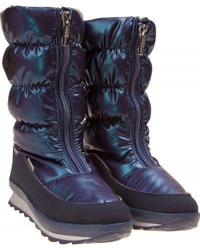 Текстильные синие сапоги Jog Dog
