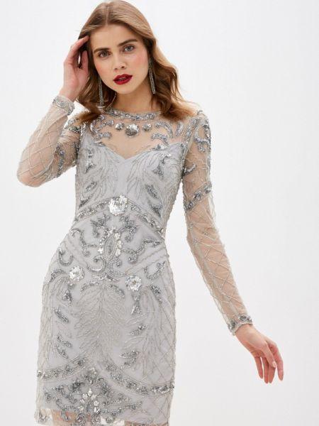 Вечернее платье серое осеннее Frock And Frill