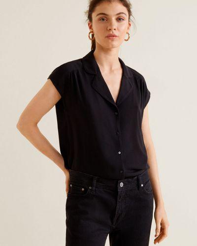 Блузка с коротким рукавом прямая в клетку Mango