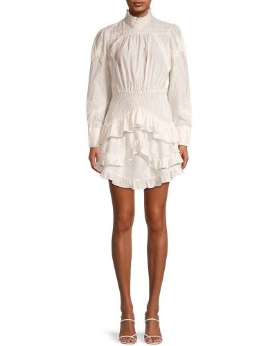 Белое платье с вышивкой Iro