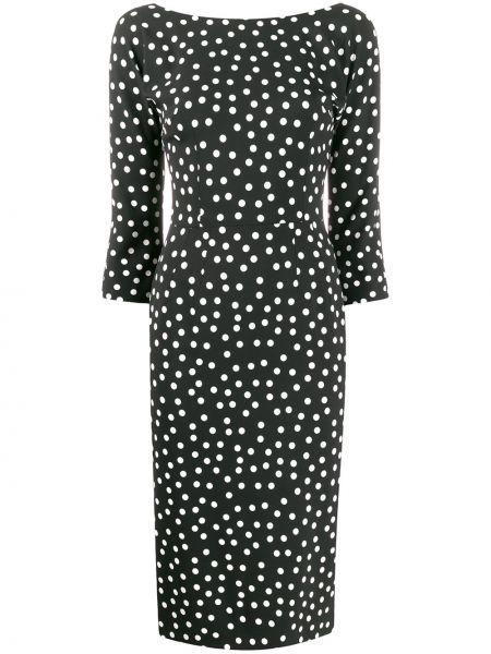 Платье миди в горошек на молнии Dolce & Gabbana