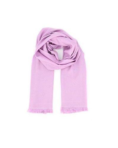 Розовый шарф Versace