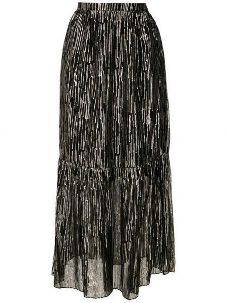 С завышенной талией юбка макси на молнии с поясом свободного кроя Reinaldo Lourenço
