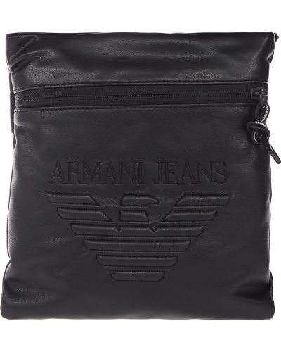 Кожаная сумка на молнии текстильная Armani Jeans