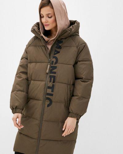 Теплая зеленая зимняя куртка Befree