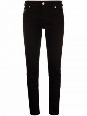 Джинсовые зауженные джинсы - черные Versace Jeans Couture
