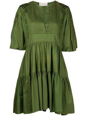 Zielona sukienka bawełniana z haftem Sachin & Babi