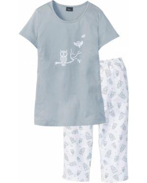 Пижама с брюками с короткими рукавами пижамный Bonprix