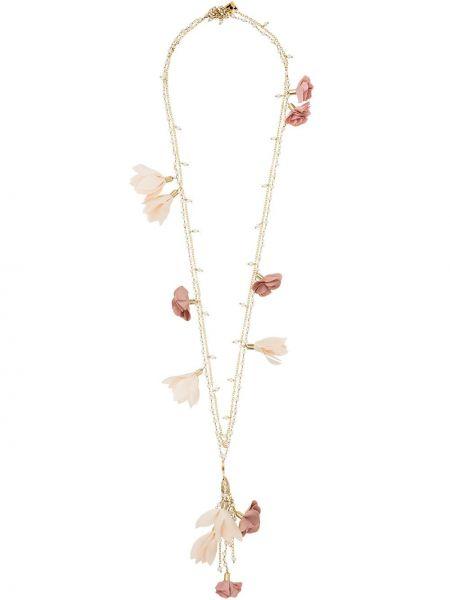 Ожерелье с жемчугом зеленый розовый Rosantica