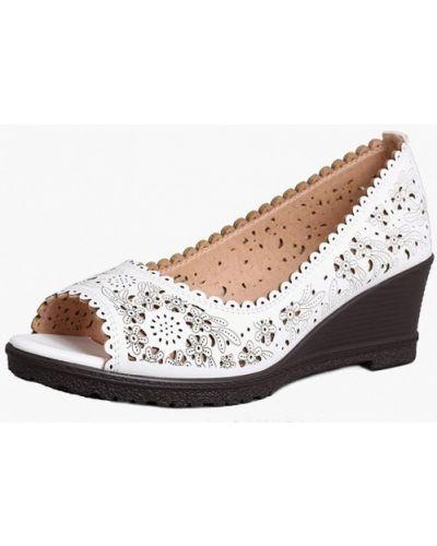 Кожаные туфли с открытым носком T.taccardi