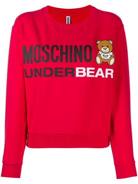 Prosto bawełna bluza rozciągać przycięte Moschino