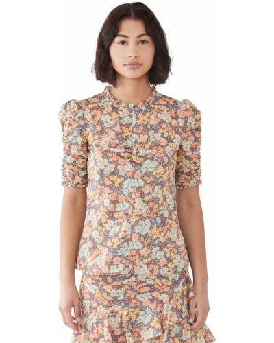 Хлопковая блузка с декольте круглая Veronica Beard