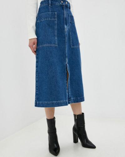 Синяя джинсовая юбка Gap
