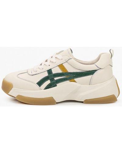 Кожаные белые кроссовки Sprincway
