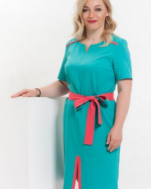 Платье мини со вставками с поясом Modellos