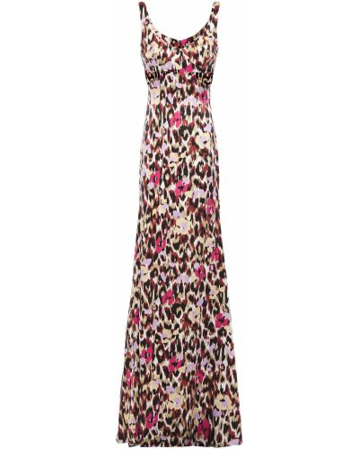 Шелковое платье макси Roberto Cavalli