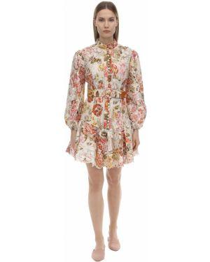 Платье мини с вышивкой макси Zimmermann