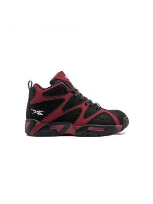 Кожаные черные кроссовки на шнуровке Reebok Kids