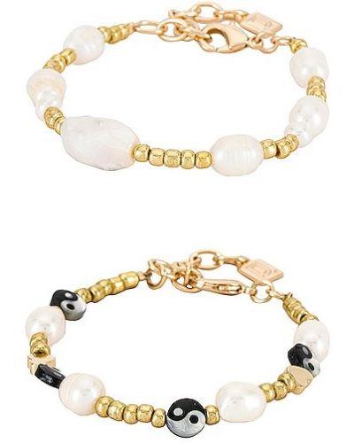 Złota bransoletka ze złota pozłacana perły Dannijo