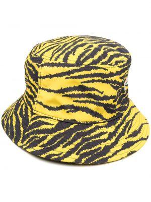 Ватная хлопковая желтая шапка Kenzo