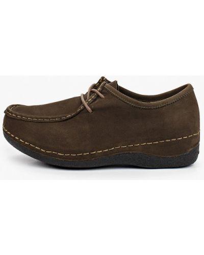 Зеленые ботинки из нубука Makfine