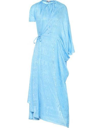 Платье миди шелковое винтажная Balenciaga