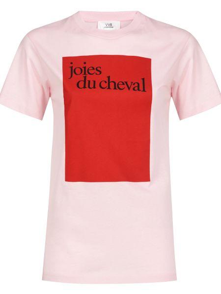 Хлопковая футболка - розовая Victoria Beckham