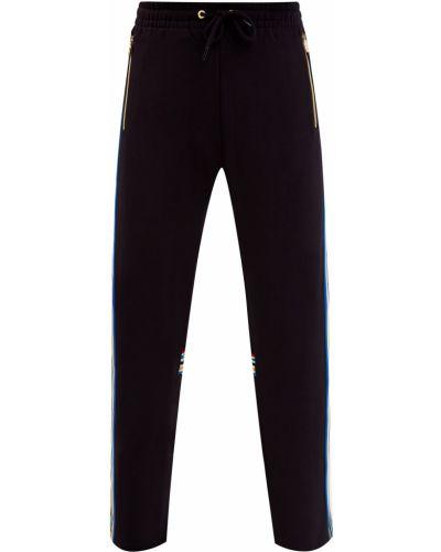 Спортивные черные спортивные брюки с карманами из плотной ткани Bikkembergs