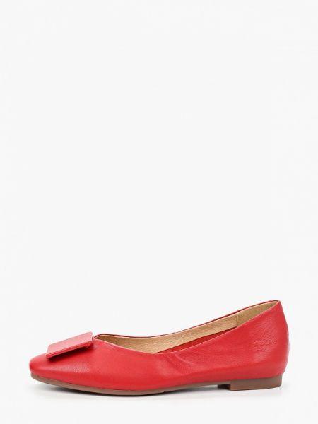 Красные кожаные туфли закрытые из натуральной кожи Berkonty