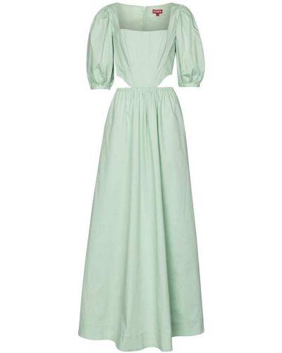 Зеленое платье макси винтажное стрейч Staud
