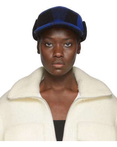 Czarna czapka z nausznikami wełniana Rag & Bone