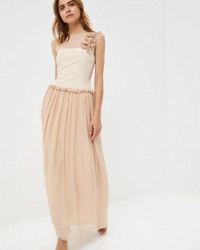 Вечернее платье осеннее бежевое Lolita Shonidi
